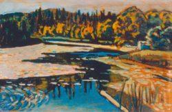 """Wassily Kandinsky """"Der Flußm Herbst"""" 30 x 20 cm"""