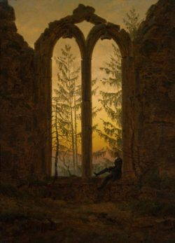 """Caspar David Friedrich """"Der Träumer""""  21 x 27 cm"""