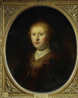 """Rembrandt """"Bildnis-einer-jungen-Frau"""" 60 x 50 cm"""