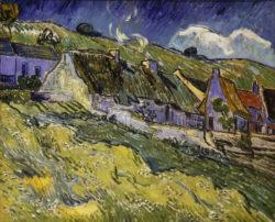 """Vincent van Gogh """"Strohgedeckte Haeuser"""", 60 x 73 cm"""