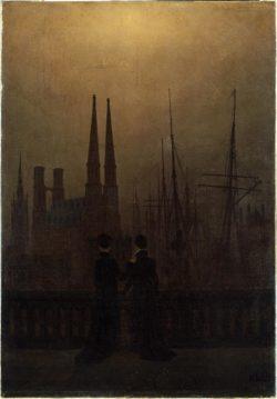 """Caspar David Friedrich """"Nächtlicher Hafen""""  52 x 74 cm"""