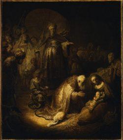 """Rembrandt """"Anbetung-der-Könige"""" 39 x 45.5 cm"""