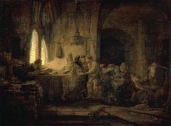 """Rembrandt """"Das-Gleichnis-von-den-Arbeitern-im-Weinberg"""" 31 x 42 cm"""