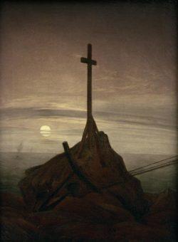 "Caspar David Friedrich ""Kreuz an der Ostsee""  34 x 46 cm"