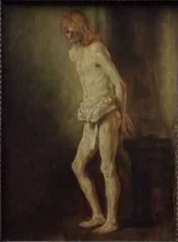 """Rembrandt """"Christus-an-der-Geißelsäule"""" 34 x 25.8 cm"""