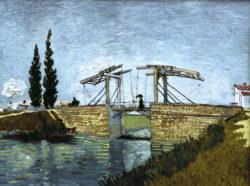 """Vincent van Gogh """"Die Zugbruecke"""" (Die Bruecke von Langlois in Arles mit Dame mit Regenschirm) 49,5 x 64 cm"""