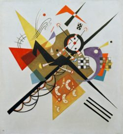 "Wassily Kandinsky ""Auf Weiß"" 98 x 105 cm"