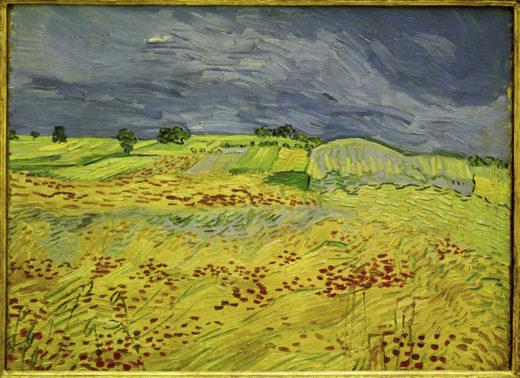 """Vincent van Gogh """"Weizenfeld mit Gewitterhimmel"""" (Die Ebene bei Auvers) 50 x 65 cm 1"""