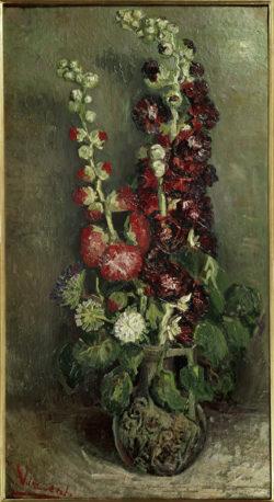 "Vincent van Gogh ""Vase mit Rosenmalven"", 91 x 50,5 cm"