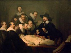 """Rembrandt """"Anatomische-Vorlesung-des-Dr-Nicolaes-Tulp"""" 169.5 x 216.5 cm"""