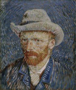 "Vincent van Gogh ""Selbstbildnis mit grauem Filzhut"", 44 x 37,5 cm"