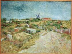 """Vincent van Gogh """"Gemuesegaerten an der Butte Montmartre"""", 96 x 120 cm"""