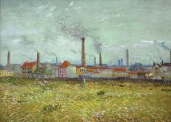 "Vincent van Gogh ""Fabriken in Asnières 54 x 72 cm"