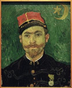 """Vincent van Gogh """"Portraet von Milliet"""" 60 x 49 cm"""