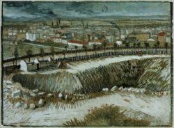 "Vincent van Gogh ""Industrielandschaft – Am Stadtrand von Paris nahe Montmartre"" 39,5 x 53,5 cm"