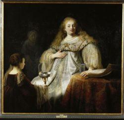 """Rembrandt """"Sophonisbe-empfängt-den-Giftbecher-auf-Befehl-ihres-Gatten"""" 142 x 153 cm"""