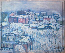 "Wassily Kandinsky ""Der Smolenski Boulevard Wintertag"" 33 x 36 cm"