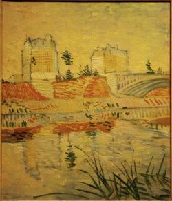 "Vincent van Gogh ""Pont de Clichy"" (Bruecke von Clichy), 55 x 46,3 cm"
