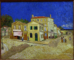"Vincent van Gogh ""Das gelbe Haus"" (Vincents Haus), 76 x 94 cm"