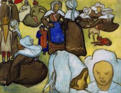 """Vincent van Gogh """"Bretonische Frauen auf der Wiese"""", 48,5 x 62 cm"""