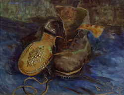 """Vincent van Gogh """"Les Souliers"""" (Ein Paar Schuhe), 33 x 40,9 cm"""