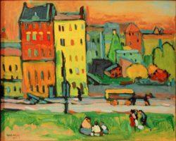 """Wassily Kandinsky """"Häusern München"""" 41 x 33 cm"""