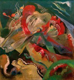 """Wassily Kandinsky """"Bild Mit Weißen Linien"""" 110 x 120 cm"""