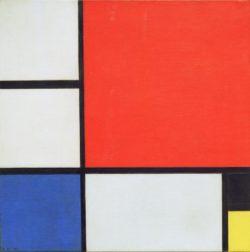 "Piet Mondrian ""Komposition"" 45 x 45 cm"