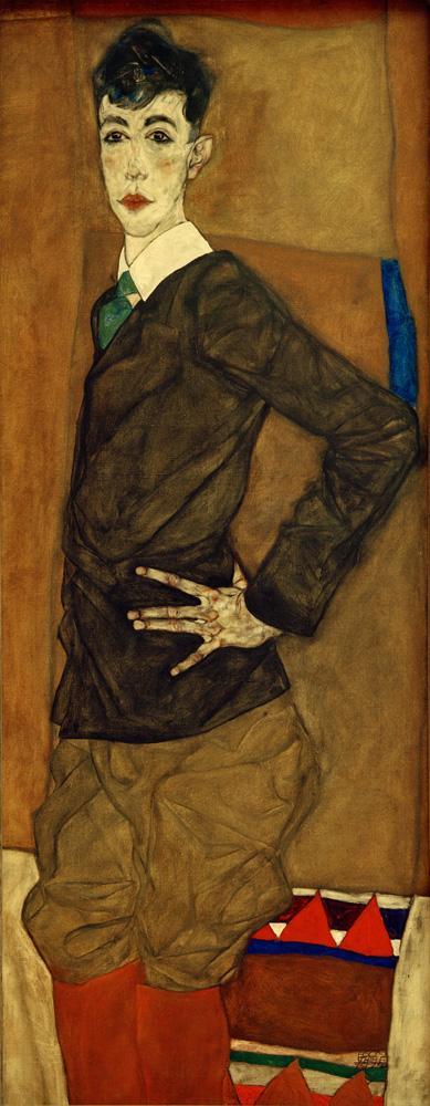 "Egon Schiele ""Bildnis Erich Lederer"" 56 x 140 cm"