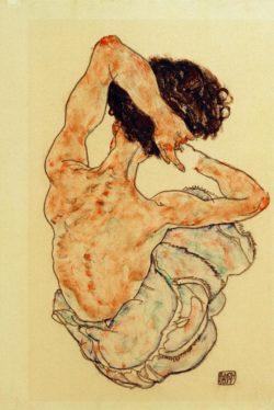 """Egon Schiele """"Weiblicher Rückenakt"""" 29 x 43 cm"""