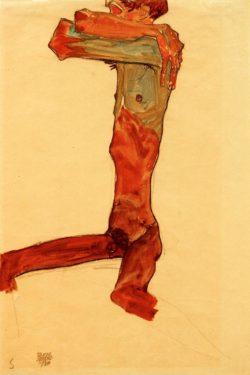 """Egon Schiele """"Männlicher Akt"""" 30 x 44 cm"""