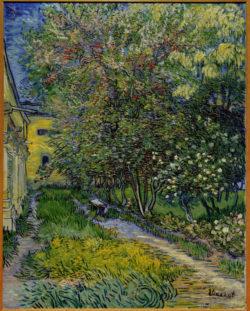 """Vincent van Gogh """"Garten des Hospitals Saint-Paul (Ansicht der Heilanstalt von Saint-Rémy), 95 x 75,5 cm"""