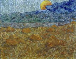 "Vincent van Gogh ""Abendlandschaft bei Mondaufgang"" (Kornfeld 72 x 92 cm"