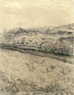 """Vincent van Gogh """"Ummauertes Feld"""" 31 x 23,5 cm"""