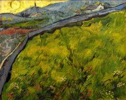 """Vincent van Gogh """"Saatfeld bei Sonnenaufgang"""" (Kornfeld), 72 x 92 cm"""