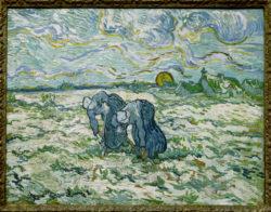 """Vincent van Gogh """"Zwei grabende Baeuerinnen auf schneebedecktem Feld"""" (Grabende) 49,3 x 64 cm"""