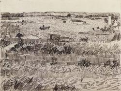 """Vincent van Gogh """"Die Ernte"""", 24 x 32 cm"""