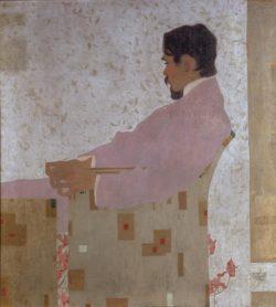 "Egon Schiele ""Porträt des Malers Anton Peschka"" 100 x 110 cm"