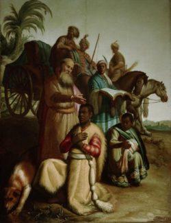 """Rembrandt """"Die-Taufe-des-Kämmerers"""" 63.5 x 48 cm"""