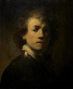 """Rembrandt """"Rembrand-Selbstbildnis-mit-Halsberge"""" 38.2 x 31 cm"""