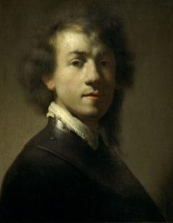 """Rembrandt """"Jugendliches-Rembrand-Selbstbildnis-als-Krieger"""" 37.9 x 28.9 cm"""