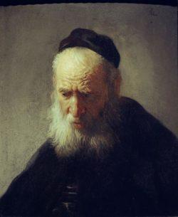 """Rembrandt """"Kopf-eines-alten-Mannes"""" 24 x 20.3 cm"""