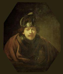 "Rembrandt ""Rembrand-Selbstbildnis-als-Krieger"" 80.5 x 66 cm"
