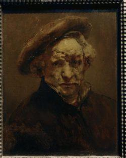 """Rembrandt """"Rembrand-Selbstbildnis-mit-Barett"""" 30.7 x 24.3 cm"""