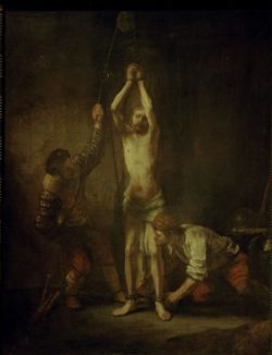 """Rembrandt """"Christus-an-der-Geißelsäule"""" 93 x 72 cm"""