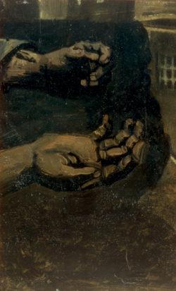 "Vincent van Gogh ""Zwei Haende"" 28 x 17 cm"