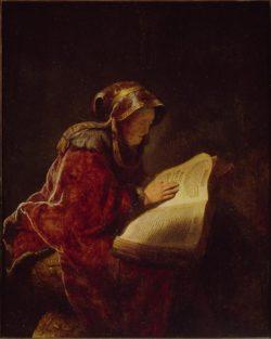 """Rembrandt """"Die-Prophetin-Hanna-oder-die-Mutter-des-Künstlers"""" 59.8 x 47.7 cm"""