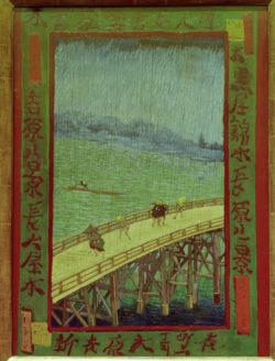 """Vincent van Gogh """"Bruecke im Regen"""". 73 x 54 cm"""