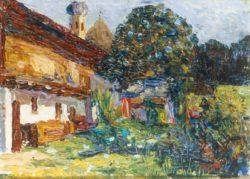 """Wassily Kandinsky """"Kochel Bauernhaus Mit Kirche"""" 32 x 24 cm"""