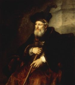 """Rembrandt """"Bildnis-eines-sitzenden-alten-Mannes"""" 128 x 112 cm"""